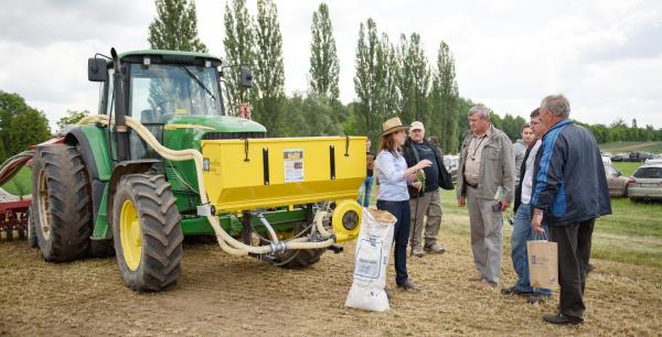 mikrogranulované hnojivo saplikační technologií